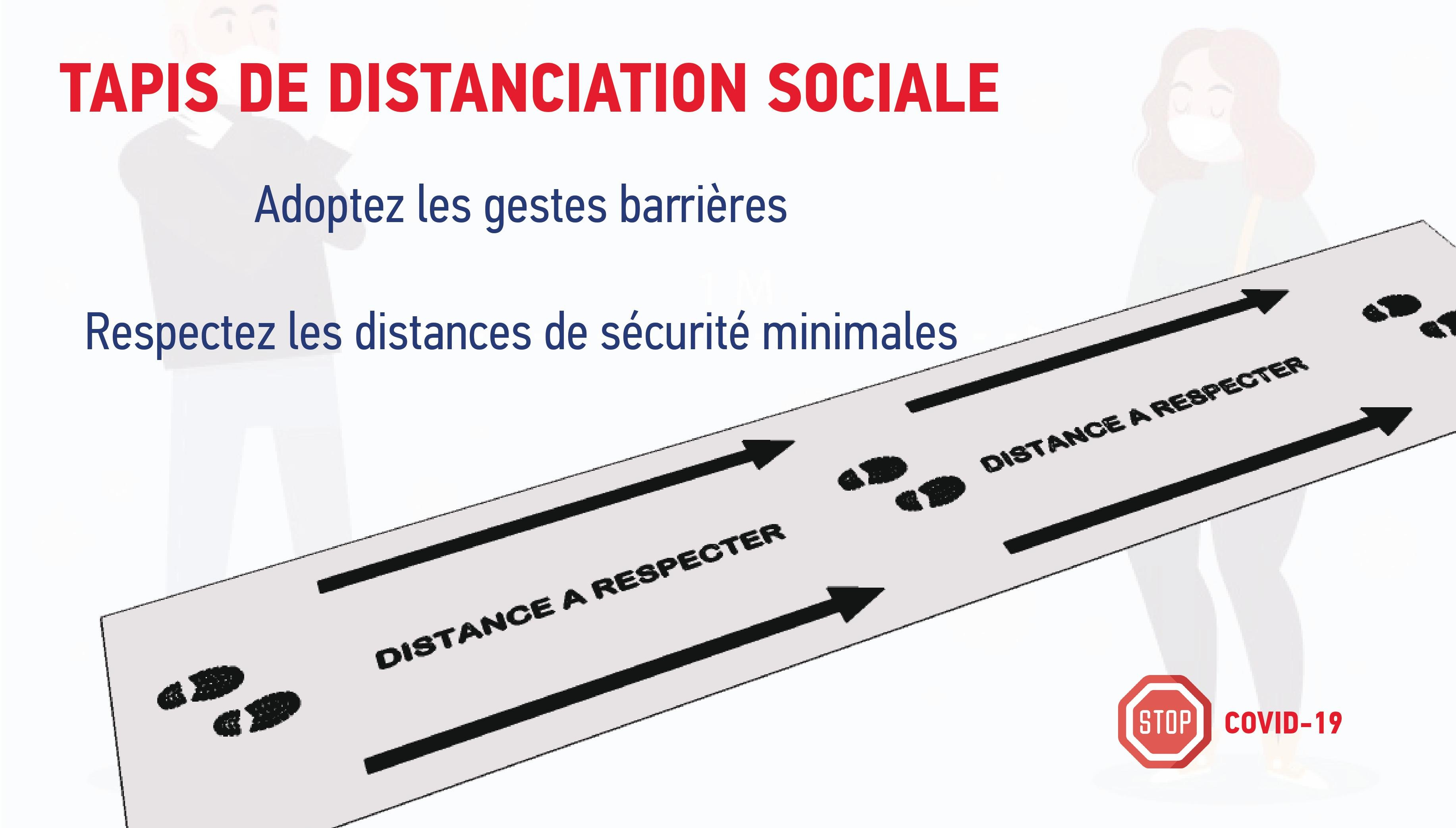 tapis de distanciation sociale